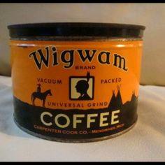 Wigwam Coffee tin