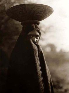Maricopa Girl. Edward Sheriff Curtis Photography