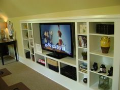 Love the built-ins for the bonus room!