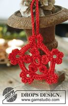 Drops Extra Pattern 0-1006, Christmas: Crochet DROPS star in Cotton Viscose to hang on the Christmas tree