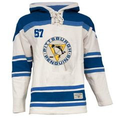 4f6eec84d Old Time Hockey Pittsburgh Penguins Lace Jersey Team Hoodie - White Hockey  Jersey Hoodie