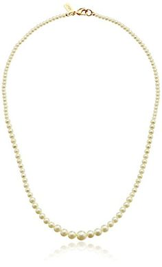 "1928 Bridal Eloquence 18"" Delicate Simulated Pearl Necklace * Read more reviews of the product by visiting the link on the image."