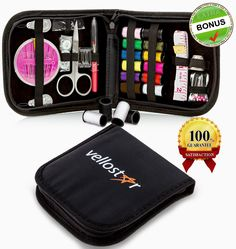 PORTABLE & LIGHTWEIGHT KIT. Convenient sewing kit for mending rips, tears, holes, unraveled hems, missing buttons, and more. The entire kit opens up flat for your every convenience. Our sewing kit contains all the essentials you could ever need, in any situation. Perfect as a set if you're on vacation or traveling for business. 100% ABSOLUTE SATISFACTION GUARANTEE & 100% 30 DAY MONEY BACK GUARANTEE