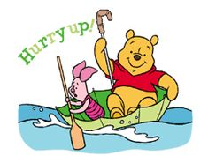 LINE Official Stickers - Winnie The Pooh Animated Stickers Example with GIF Animation Pooh Bear, Tigger, Disney Villains, Disney Characters, Fictional Characters, Walt Disney Company, Line Sticker, Custom Stickers, Winnie The Pooh