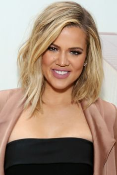 Thinking about going for a new, shorter haircut for summer? The 40 best celebrity bob and lob haircuts to inspire your next visit to the salon: Khloe Kardashian's layered lob