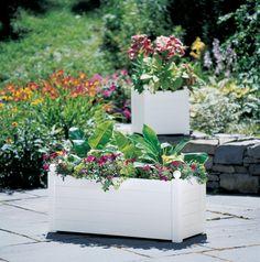 Self Watering Terrazza Trough Planters | Buy from Gardener's Supply