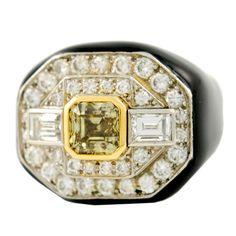 1stdibs - DAVID WEBB Gold Platinum Diamond and Enamel Ring explore items from 1,700  global dealers at 1stdibs.com