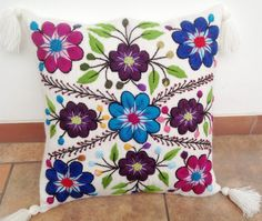 Home & Garden Table & Sofa Linens Bright Flowers Cotton Linen Cushion Cover Decorative Pillowcase Chair Seat 45x45cm Leaves Fruit Pigeon Pillow Cover Home Living For Sale