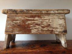RESERVED Vintage Primitive Wood Milking by LuLuBellesAntiques, $84.00