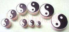 YIN-YANG-Flexi-Double-Flare-Flexible-Ear-Plug-Silicone-No-Allergy-6mm-25mm Today only - 3/10/15 - 10% off!