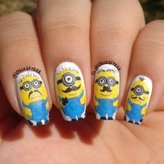 minions by 101nailfreak #nail #nails #nailart