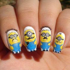 minions by 101nailfreak #nail #nails #nailart