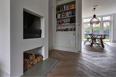 DutchDesignBeton.com - decoratieve vloerplaat bij de openhaard gemaakt van dutchdesignbeton