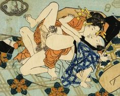 """""""Shunga"""" ('Spring Pictures') are erotic Japanese paintings, prints and book illustrations produced in large quantities, mainly during the Edo period Many examples are by Ukiyo-e or 'Floating World' school artists such as Utamaro and Hokusai. Japanese Drawings, Japanese Prints, Samurai, Art Through The Ages, Traditional Japanese Art, Art Of Love, Historical Art, Japanese Painting, Japan Art"""