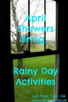 April Showers... Bring Rainy Day Activities.  Here is a list of five fun things to do with your kids inside on your next rainy day including having a read-a-thon, baking, playing dress-up, making crafts including YOXO construction kits and going camping.