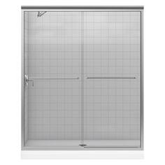 KOHLER�56-in to 59-in W x 70-in H Brushed Nickel Sliding Shower Door