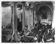 World War I field hospital This photo shows an American army field hospital inside ruins of a church (France The AEF sustained more than casualties. World War One, American Soldiers, Kirchen, National Museum, Historical Photos, Photo Mugs, Photo Gifts, American History, Poster Prints