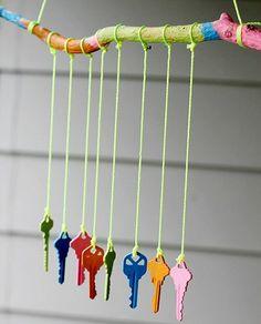 carillon DIY avec des clés