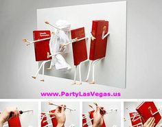The Movement Bookcase by Samulnoli.The bent nails on This unique 'Movement Bookcase' act like arms and legs that hold your books.  www.PartyLasVegas.us