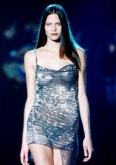 frankie rayder at versace menswear f/w 1999