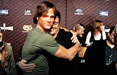 [gif]  Jared and JDM  ...and Jared's arm, and Jared's back, and Jared's neck,, and Jared's smile, and...well, you get the picture. ;)