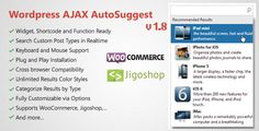 See More WordPress AJAX Search & AutoSuggest Plugintoday price drop and special promotion. Get The best buy