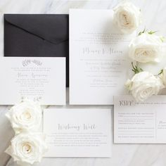 Classic Wedding Invitations / Letterpress by D & D Letterpress (instagram: the_lane) http://thelane.com