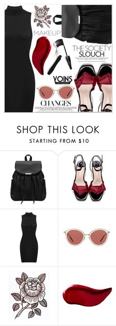 """Yoins"" by lucky-1990 ❤ liked on Polyvore featuring Oliver Peoples, Kat Von D and Lancôme"