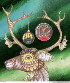 LeeAnn's Zentangle-ing Fun More Christmas inspiration here. Like her use of Fife, an official Zentangle Pattern Tangle Doodle, Doodles Zentangles, Zen Doodle, Zentangle Patterns, Doodle Art, Zantangle Art, Zen Art, Christmas Doodles, Christmas Art