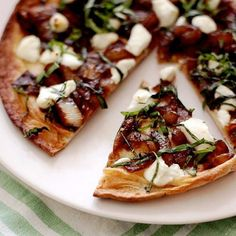 Goat cheese and caramelized onion tart :)