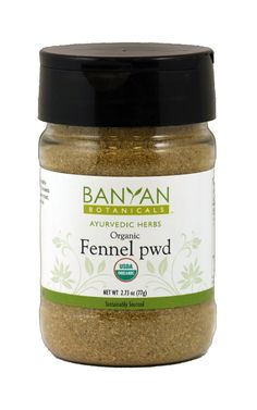 Fennel, org. pwd. (2.22 oz Spice Jar) $6.50
