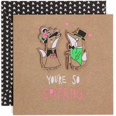 Fox Valentines card