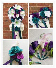 Teal, Eggplant and Lavender Wedding Colors - Wedding Colour Scheme ...