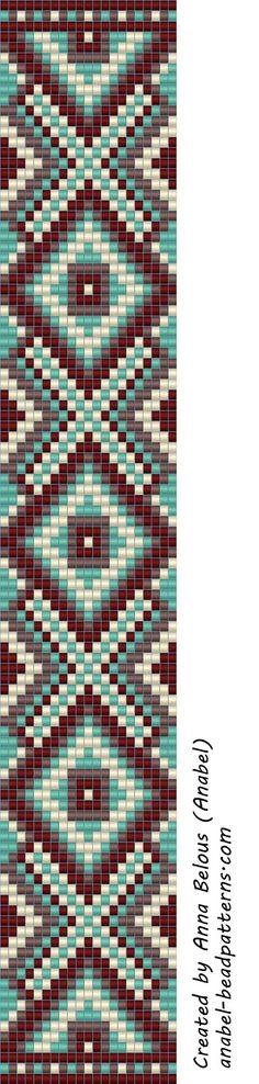 beading scheme weaving beads anabel loom beaded pattern - maybe square stitch? Seed Bead Patterns, Peyote Patterns, Weaving Patterns, Snake Patterns, Bead Loom Bracelets, Beaded Bracelet Patterns, Jewelry Patterns, Bead Loom Designs, Motifs Perler