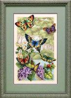 "free cross stitch pattern... .................... Gallery.ru / Fleur55555 - Album ""BUTTERFLY GEFIEDERTER"""