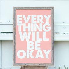 Everything Okay Coral 24.25x36 now featured on Fab.