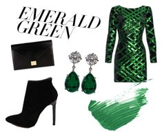 """""""Untitled #90"""" by jessieistrefi on Polyvore featuring Nissa Jewelry, Victoria Beckham, By Terry and emeraldgreen"""