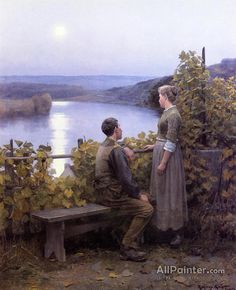 Daniel Ridgway Knight,Summer Evening oil painting reproductions for sale