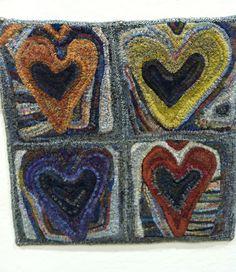 hearts by Joan Sample ~ Celebration rug shown at Sauder 2012