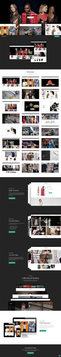 Create an eCommerce website that will draw everyone's attention and make products speak for themselves with Grayson, a clothing shop WordPress theme that simply has it all! Rule the online fashion world and build a clothing shop you've always dreamed of! Fashion Mag, Fashion Online, Fashion Brand, Wordpress Landing Page, Blog Layout, Web Design, Layout Design, Watch Sale, Simple House