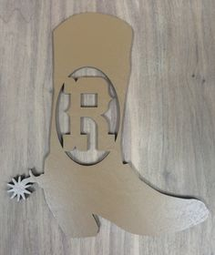 Unfinished Wood Cowboy Boot Monogram Door Hanger Laser Cutout W/ Your  Initial, Home Decor, Various Sizes, Western, Rustic, Country