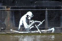 Banksy, a graffiti artist in England, has become so wildly popular that many building owners choose to leave his stenciled works up as an attraction.