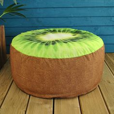 Garden Selections Pouffe Garden Seat / Kiwi (45 AUD) ❤ liked on Polyvore featuring home, outdoors, patio furniture, garden furniture, outdoor garden furniture and garden patio furniture
