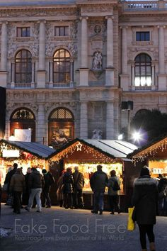 Christmas Village at Maria-Theresien-Platz in Vienna | Travel tips at Fake Food Free