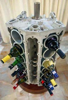 Larry the Cable Guy's idea of a wine rack pretty cool! From Larry the Cable Guy on Facebook.