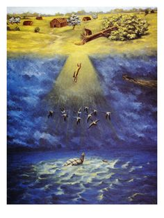 Iroquois Creation Myth Giclee Print by Ernest Smith at Art.com