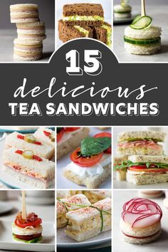 Looking for tea sandwich recipes for your next tea party? If you're looking fo… Are you looking for recipes for tea sandwiches for your next tea party? If you're looking for finger sandwiches that are adorable and yummy, they're perfect for me! Sandwich Bar, Roast Beef Sandwich, Sandwich Ideas, Tea Party Sandwiches Recipes, Cucumber Tea Sandwiches, Chicken Sandwich, Chicken Bacon, Afternoon Tea Recipes, Afternoon Tea Parties