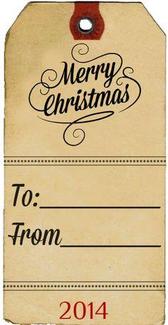 Vintage Christmas Gift Tag