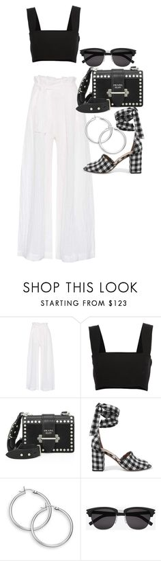 """""""Untitled #22192"""" by florencia95 ❤ liked on Polyvore featuring Three Graces, Yves Saint Laurent, Prada and Sam Edelman"""