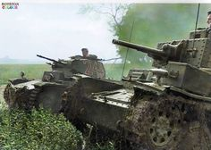 A 7th Panzer Division Panzerkampfwagen 38(t) can be seen moving in advance of a Panzerkampfwagen II during the invasion of France during May 1940.